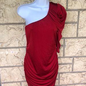 Red Mini Dress Sexy Size Large